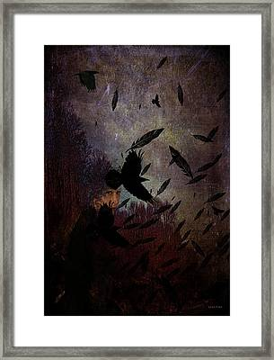 Conflict Of The Crows Framed Print by Lesa Fine