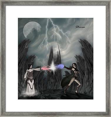 Conflict Framed Print by Surreal Photomanipulation