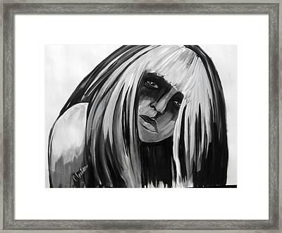 Conflicted Framed Print by Cat Jackson