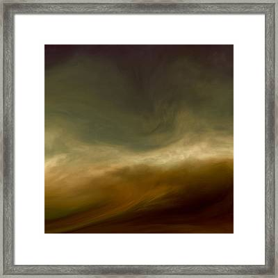 Conflicting Storms Framed Print by Lonnie Christopher