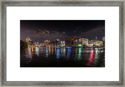 Confluence At Night Framed Print