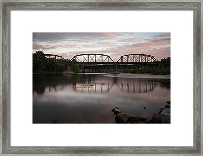 Conflux Of The Lehigh And The Delaware Framed Print by Jennifer Ancker