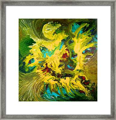 Framed Print featuring the painting Confrontation by Polly Castor