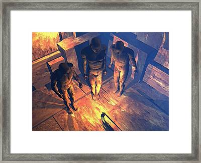 Confronted By Malignant Forces Framed Print