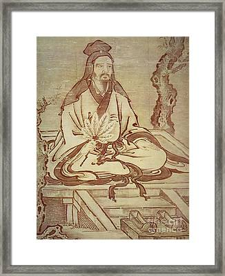 Confucius, Chinese Thinker And Social Philosopher  Framed Print