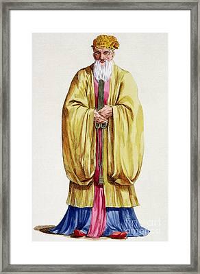 Confucius Framed Print by Pierre Duflos
