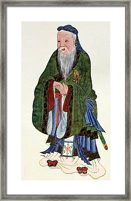Confucius  Teacher And Philosopher Framed Print by English School