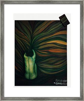 Framed Print featuring the painting Confused by Fei A
