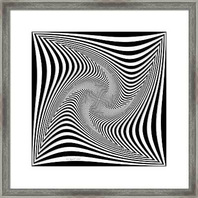 Confusion In Black And White Framed Print by Christine Kuehnel