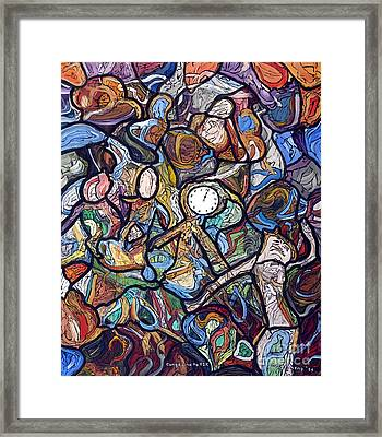 Conga Line To Y2k Framed Print by Morgan Long