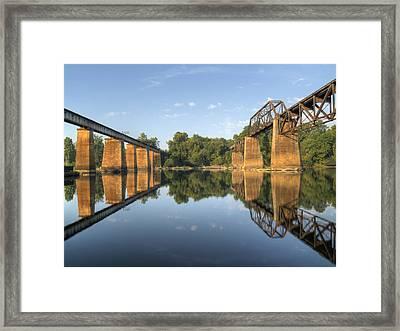 Congaree River Rr Trestles - 1 Framed Print