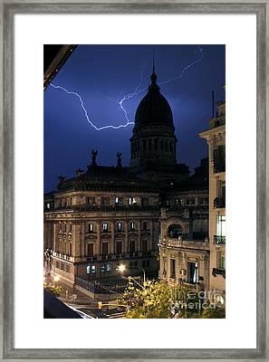 Congeso Lightning 2 Framed Print by Balanced Art