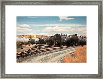 Congested Tracks Framed Print by Todd Klassy