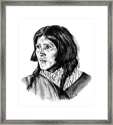Congha's Wife Framed Print