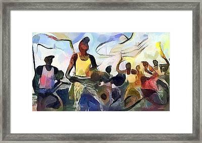 Congo Dance Framed Print by Wayne Pascall