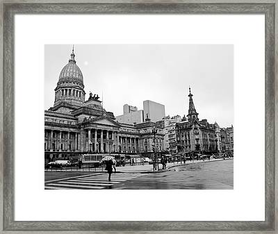 Congreso Argentina Framed Print by Hans Wolfgang Muller Leg