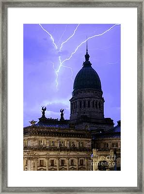 Congreso Lightning 3 Framed Print by Balanced Art