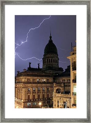 Congreso Lightning Framed Print