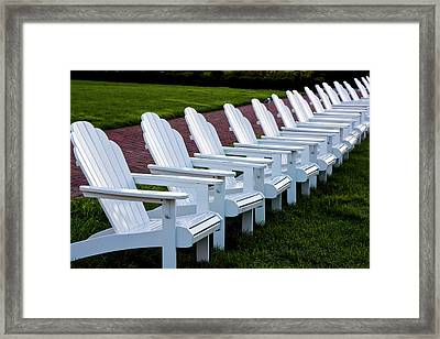 Congress Hall Chairs Framed Print by Tom Singleton