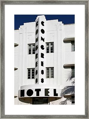 Congress Hotel. Miami. Fl. Usa Framed Print