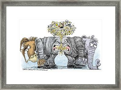 Congress Talking Out Of Their Butts Framed Print