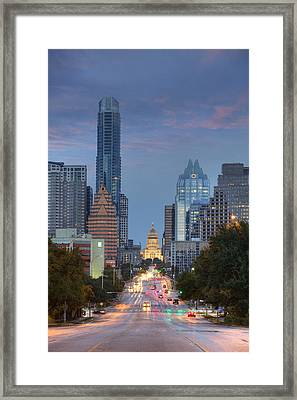 Congress To The Texas State Capitol 3 Framed Print by Rob Greebon