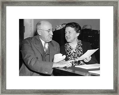 Congressional Conference Framed Print by Underwood Archives
