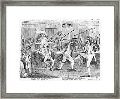 Congressional Pugilists Framed Print
