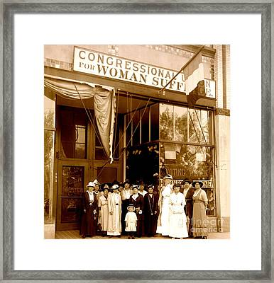 Congressional Union For Woman Suffrage Colorado Headquarters 1914 Framed Print