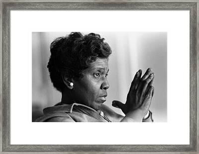 Congresswoman Barbara Jordan. In 1966 Framed Print