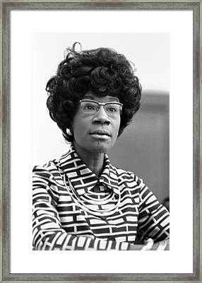 Congresswoman Shirley Chisholm Framed Print by Everett
