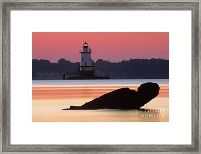 Conimicut Lighthouse Framed Print