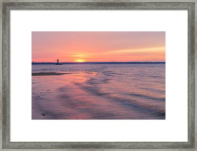 Conimicut Lighthouse Wide Framed Print