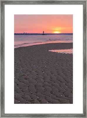 Conimicut Ripples Vertical Framed Print