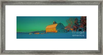 Conley Rd White Barn Framed Print by Tom Jelen