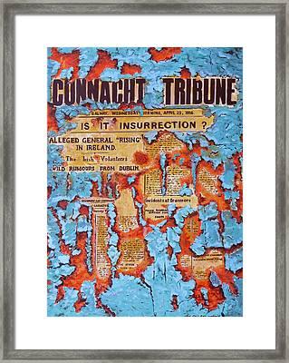 Connacht Tribune 1916 Framed Print by Tomas OMaoldomhnaigh