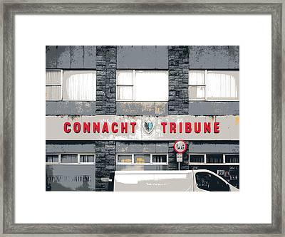 Connacht Tribune  Framed Print by Shay Culligan