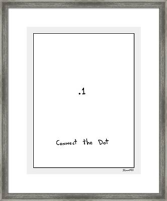 Connect The Dot Framed Print