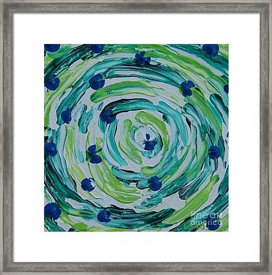 Connect The Dots Framed Print by Emily Young