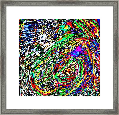 Connected Ellements Framed Print