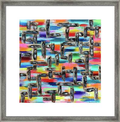 We're All Connected Framed Print by Jo Ann Bossems
