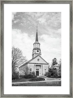 Connecticut College Harkness Chapel Framed Print by University Icons
