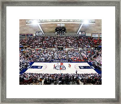 Connecticut Huskies Harry A. Gampel Pavilion Framed Print
