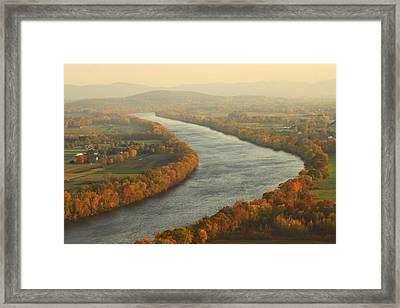 Connecticut River Mount Sugarloaf Framed Print by John Burk
