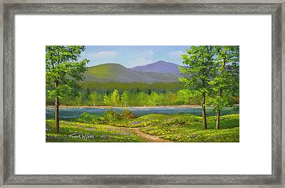 Framed Print featuring the painting Connecticut River Spring by Frank Wilson