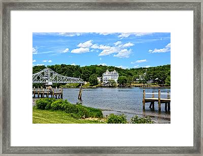 Connecticut River - Swing Bridge - Goodspeed Opera House Framed Print