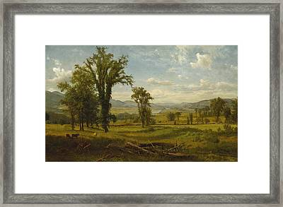 Connecticut River Valley, Claremont, New Hampshire Framed Print