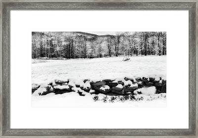 Connecticut Spring Snow 2016 Framed Print