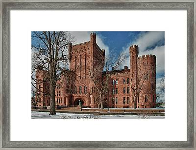 Framed Print featuring the photograph Connecticut Street Armory 3997a by Guy Whiteley