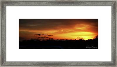 Connecticut Sunset Framed Print